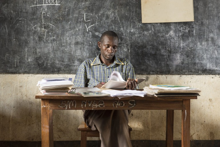 Teacher at primary school, Tanzania